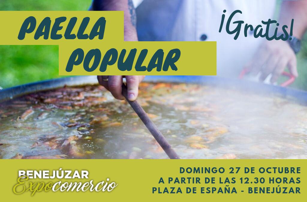 Paella Popular, fiesta de tradición, gastronomía y encuentro vecinal