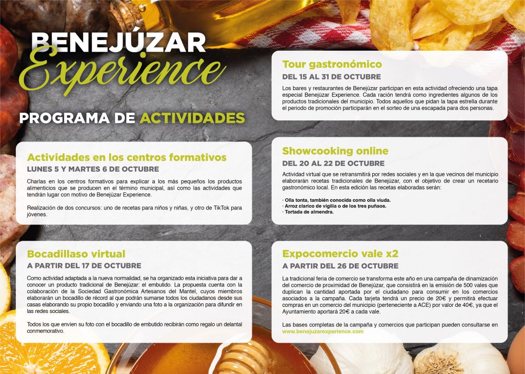 Actividades Benejúzar Experience 2020
